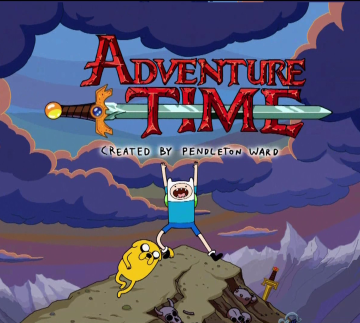 "The title card from ""Adventure Time."""